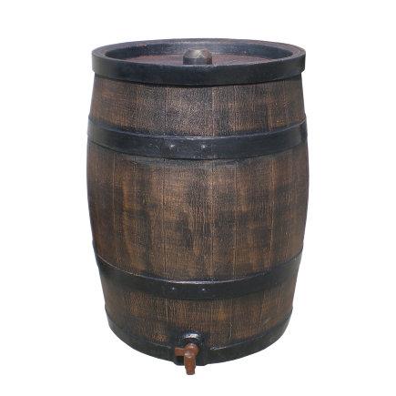 Roto regenton, houten look, 120 liter, incl. kraan