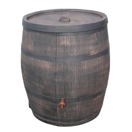 Roto regenton, houten look, 350 liter, incl. kraan