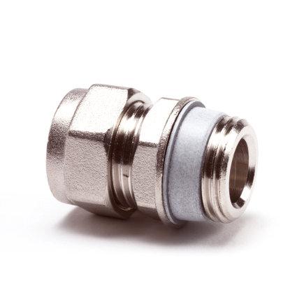 "Simplex radiatorkoppeling, recht, ½"" x 15 mm  default 435x435"