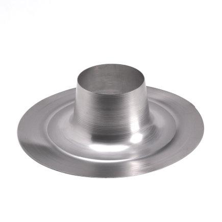Ubbink plakplaat, voor plat dak, aluminium, t.b.v. 5-serie, 130 mm