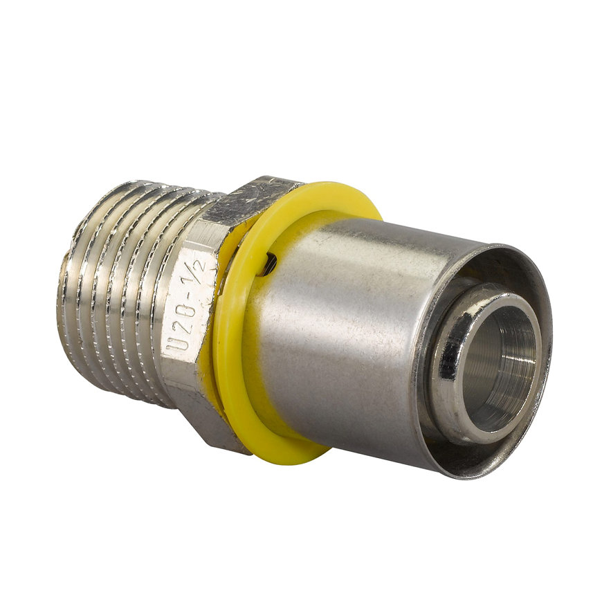 """Uponor MLC-G gas perskoppeling buitendraad, 20 mm x ½"""""""