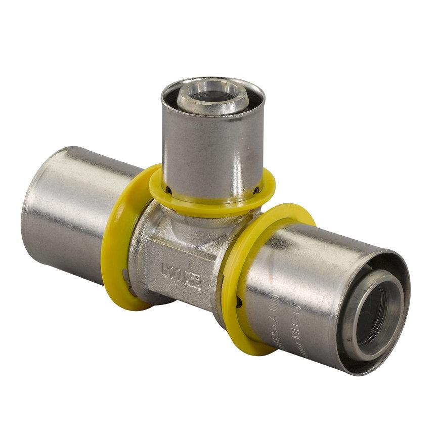 Uponor MLC-G gas pers T-stuk, verlopend, 32 x 25 x 25 mm  default 870x870
