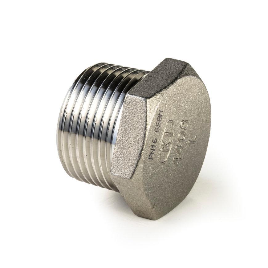 "Rvs 6-kant plug conisch, ""lost wax"", 1x buitendraad, BSP 1/8""  default 870x870"