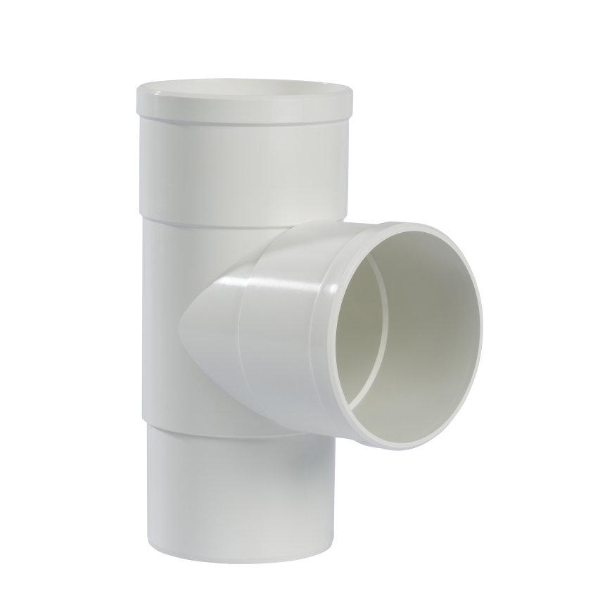 Pipelife hwa T-stuk 87°, pvc, 2x inwendig lijm, 1x verjongd spie, wit, 100 mm