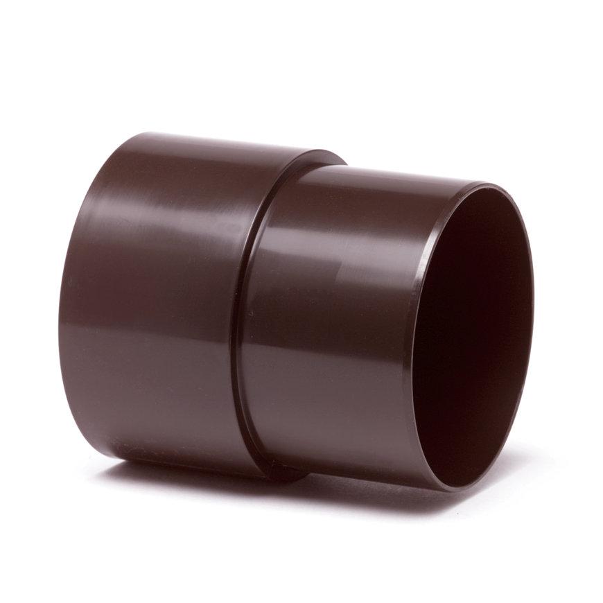 Hwa mof, pvc, inwendig lijm x verjongd spie, bruin, 70 mm