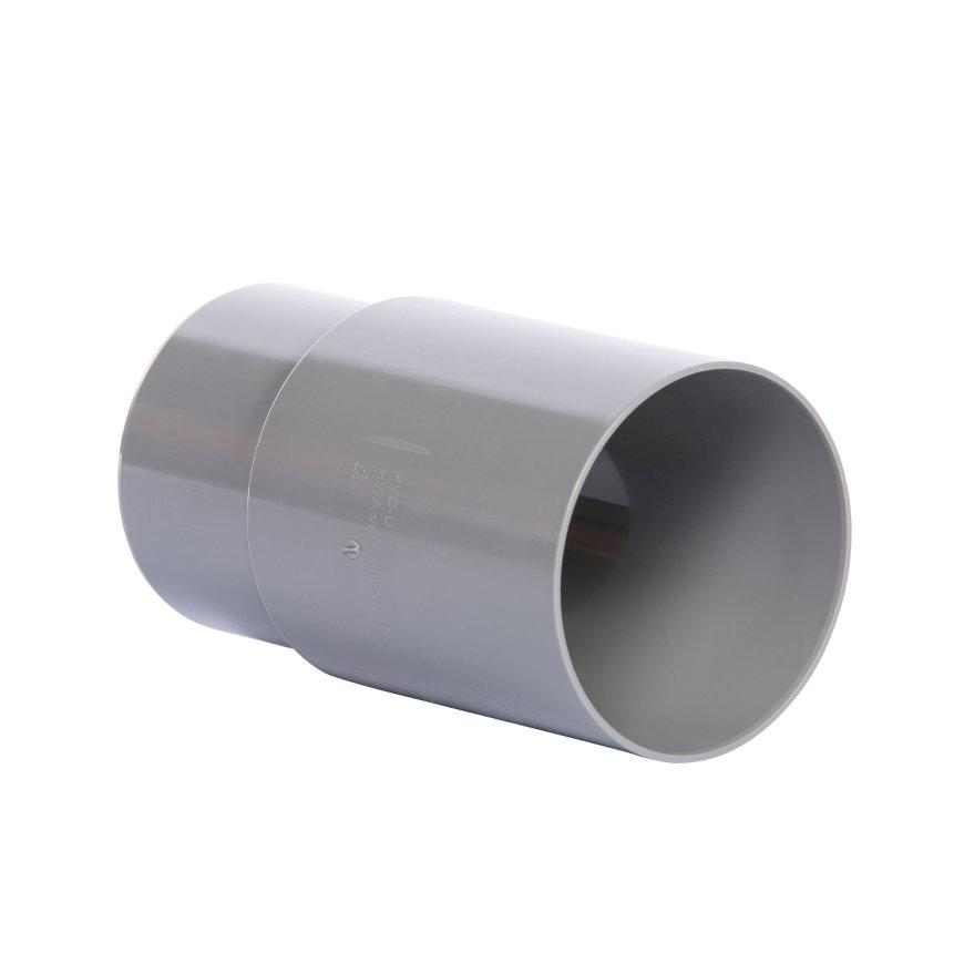 Pipelife verlengde hwa mof, pvc, inwendig lijm x verjongd spie, grijs, 100 mm