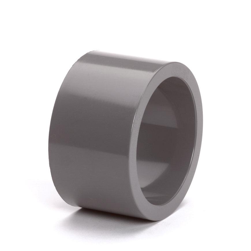 Hwa verloopring, pvc, inwendig x uitwendig lijm, grijs, 100 x 80 mm  default 870x870