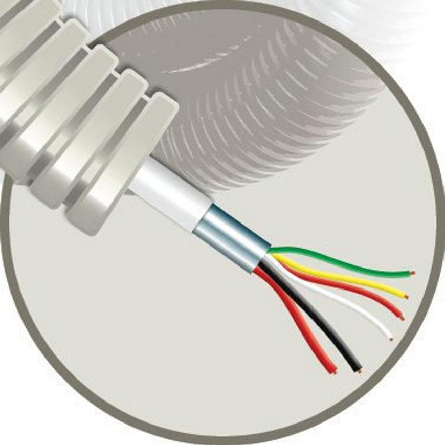 Snelflex voorbedrade flexibele buis met alarmkabel, 16 mm, 4x 0,22 mm² + 2x 0,75 mm², 100 m