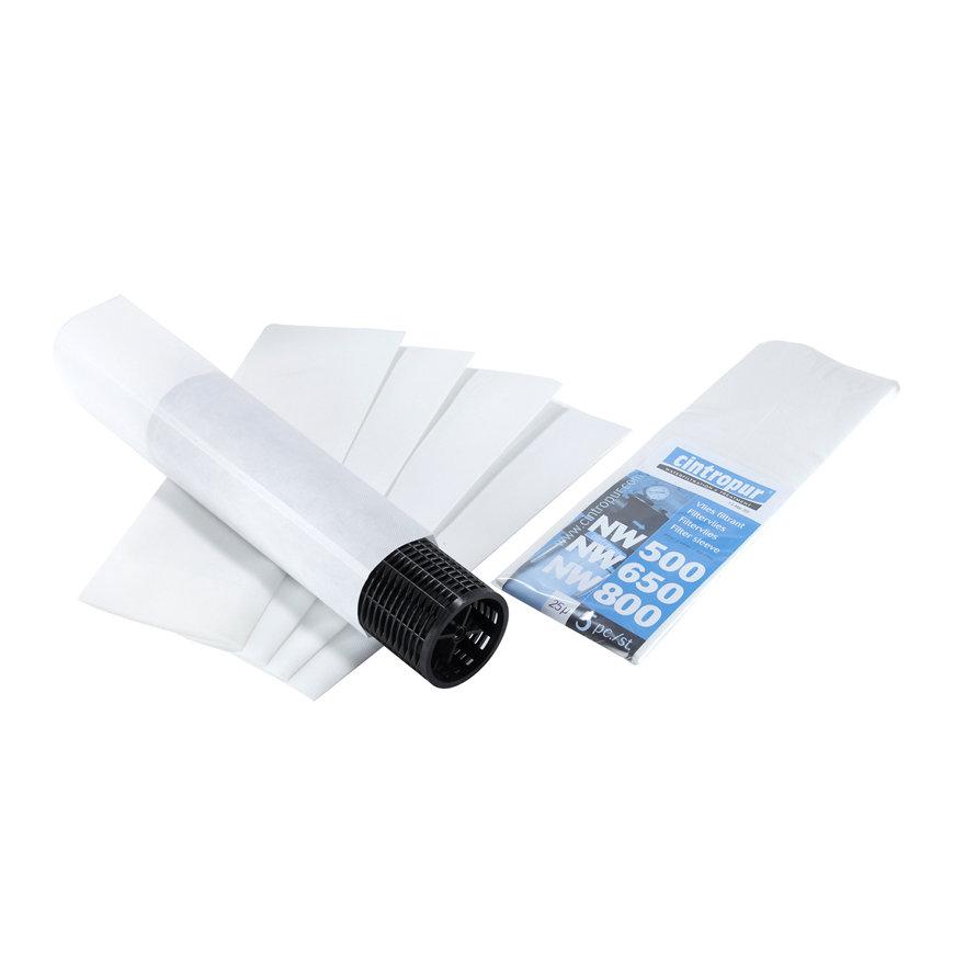 Cintropur filtervlies, 10 micron, NW 50/62/75 en NW 500/650/800, zak à 5 stuks
