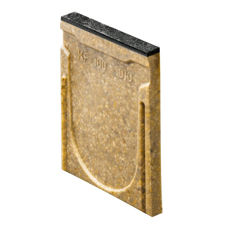 Anrin eindstuk voor lijngoot, type KF-100, gietijzeren rand, zonder uitloop 20 cm
