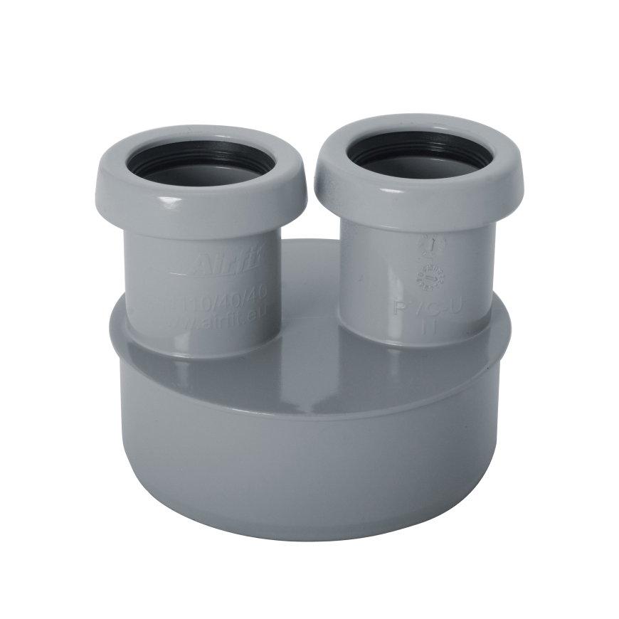 Airfit pp inzetverloopring, spie/2x manchet, grijs, 110 x 40 x 40 mm  default 870x870
