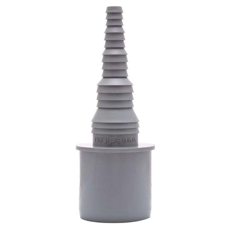 Airfit pp overgang buis x slangtule, recht, grijs, 40 x 25-8 mm slangtule  default 870x870