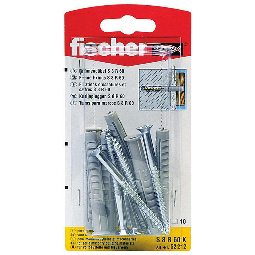 Fischer kozijnplug, type SXR, 8 x 100 mm, blister à 5 stuks  default 870x870