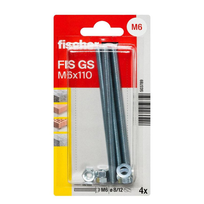 Fischer ankerstang, type GS, M10 x 165 mm, blister à 4 stuks  default 870x870