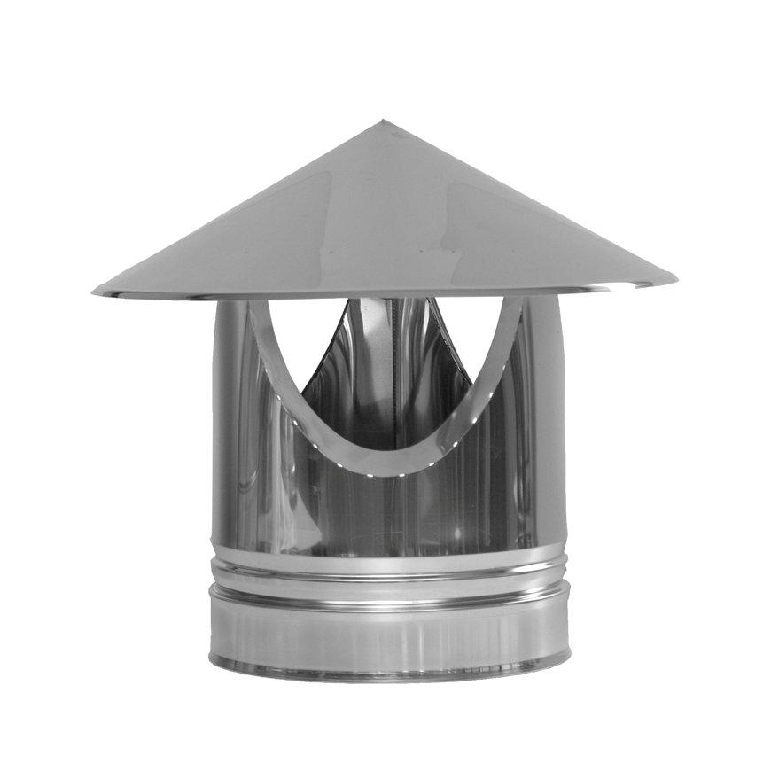 Dinak DW/DW hout, rookgasafvoer regenkap, type 010, 180 mm  default 870x870