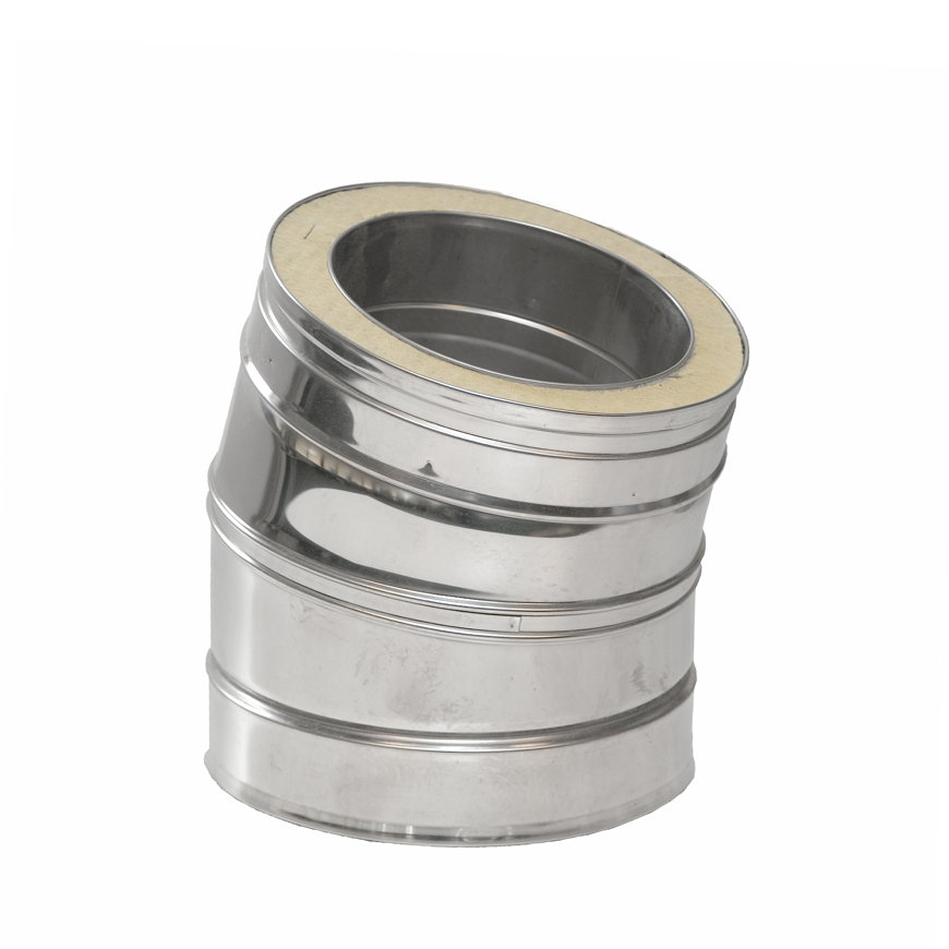 Dinak DW, rookgasafvoerbocht 30°, type 042, 100 mm