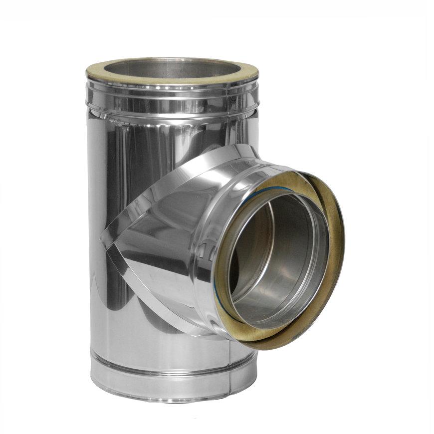 Dinak DW, rookgasafvoer T-stuk 93°, type 31A, 200 mm  default 870x870