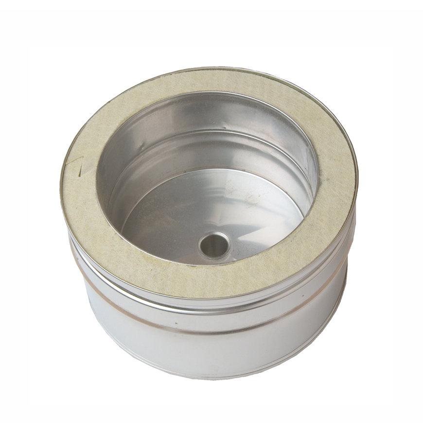 Dinak DW, verticale rookgasafvoerkap, met afvoer, type 061, 150 mm