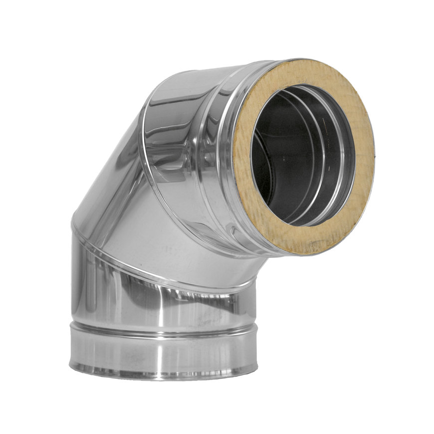 Dinak DW, rookgasafvoerbocht 87°, type 043, 80 mm