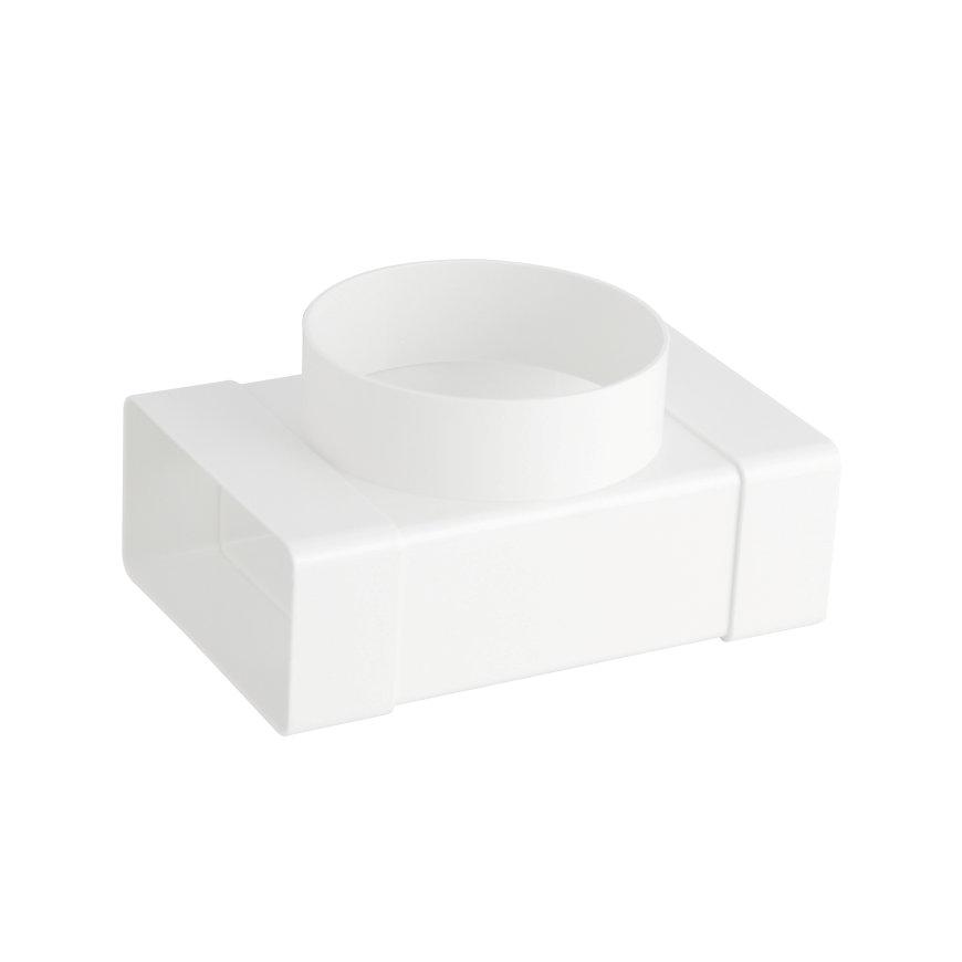 Nedco T-stuk t.b.v. keukenventilatie, 2x inwendig, 110 x 54 /Ø 100 mm