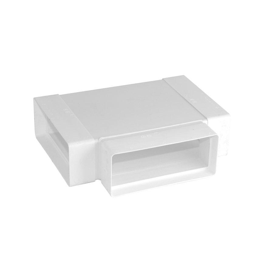 Nedco T-stuk 90°, plat, t.b.v. keukenventilatie, 3x inwendig lijm, 204 x 60 mm