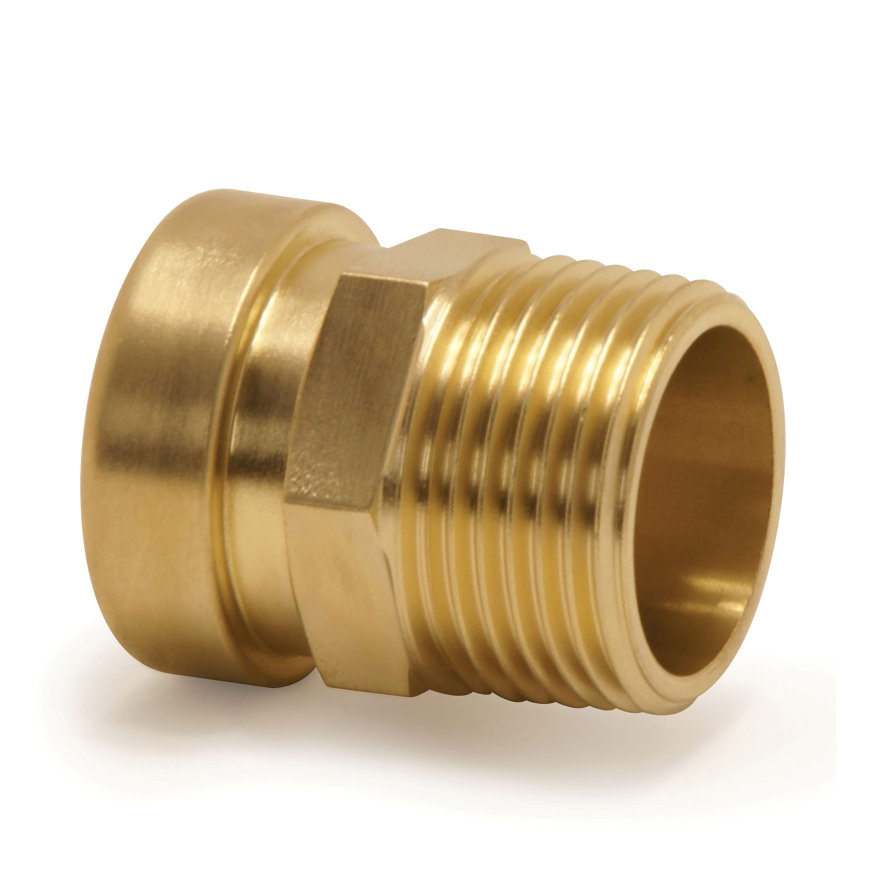 "VSH Tectite draadkoppeling, koper, steek x buitendraad, type TT3, 15 mm x ½""  default 870x870"