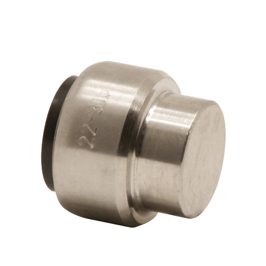VSH Tectite eindkap, rvs, 1x push, type TS301, 28 mm