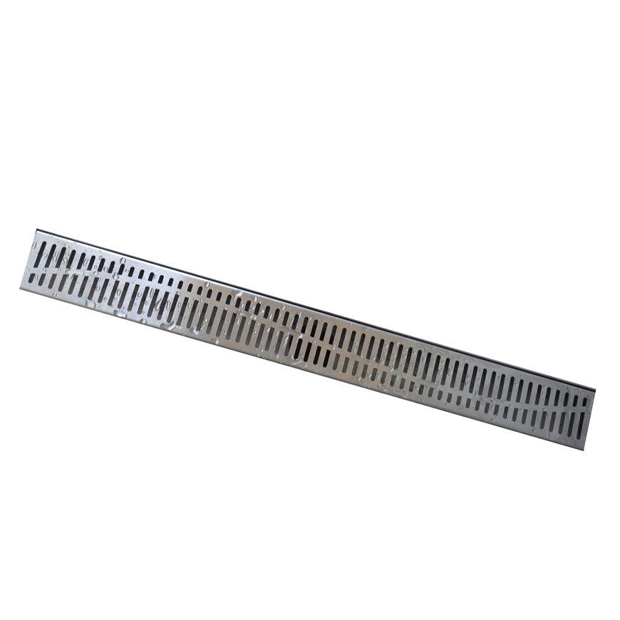 W-drain designrooster t.b.v. douchegoot, rvs, type 5, l = 500 mm  default 870x870