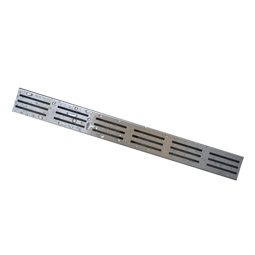 W-drain designrooster t.b.v. douchegoot, rvs, type 1, l = 1000 mm  default 870x870