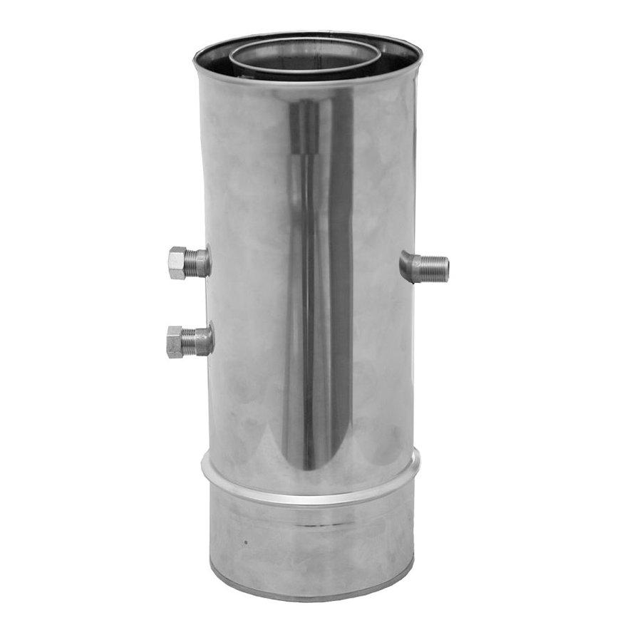 Dinak Diflux pellets, rookgasafvoerbuis met inspectieaansluiting, met afvoer, type 051, 130/200 mm