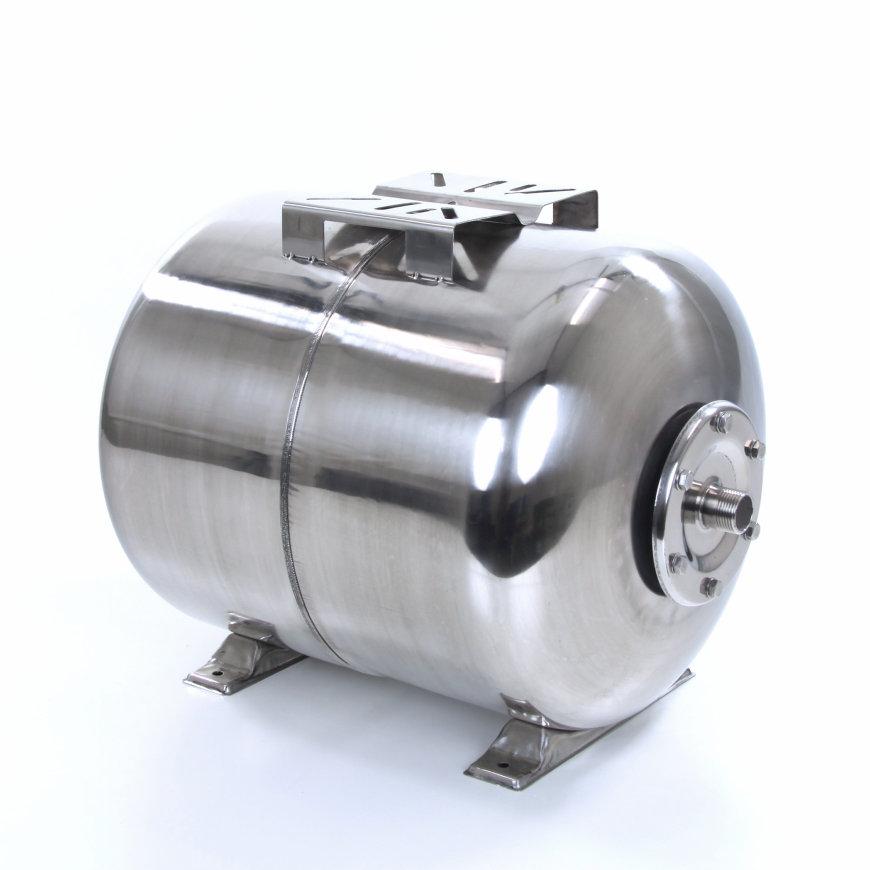 LEO expansievat, horizontaal, rvs 304, 60 liter
