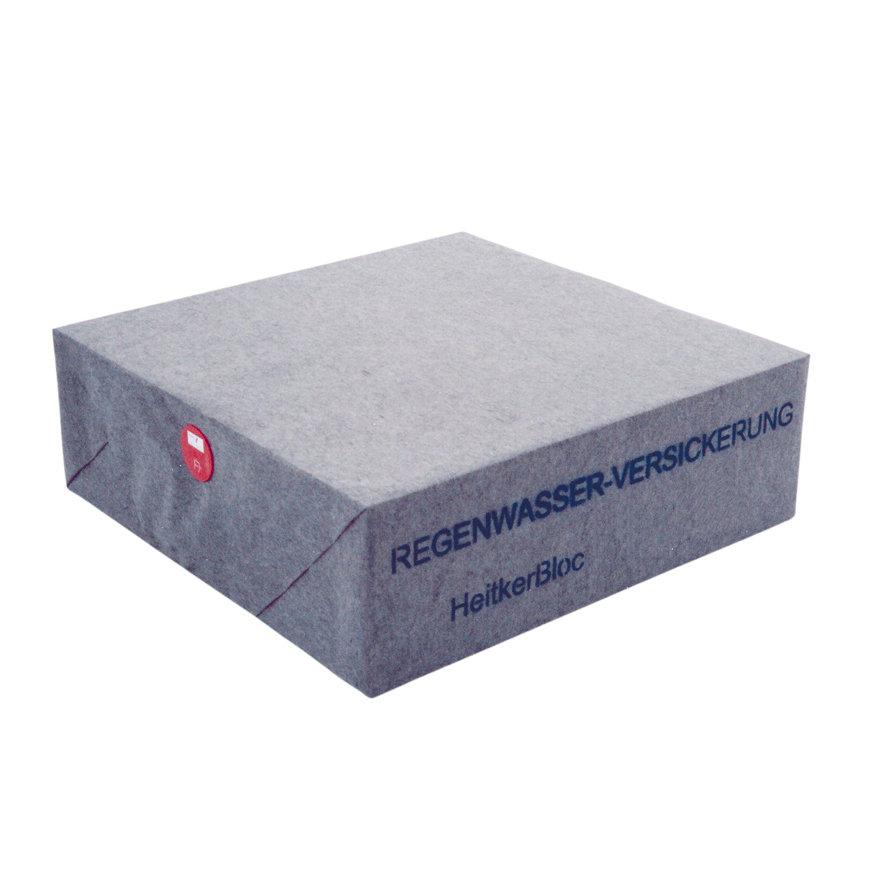 HeitkerBloc infiltratiekrat, 576 liter, inclusief geotextielomhulling, 1200 x 1200 x 400 mm, zwart  default 870x870
