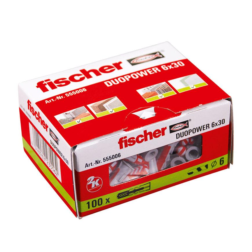 Fischer plug, type DuoPower, 12 x 60 mm, doos à 25 stuks