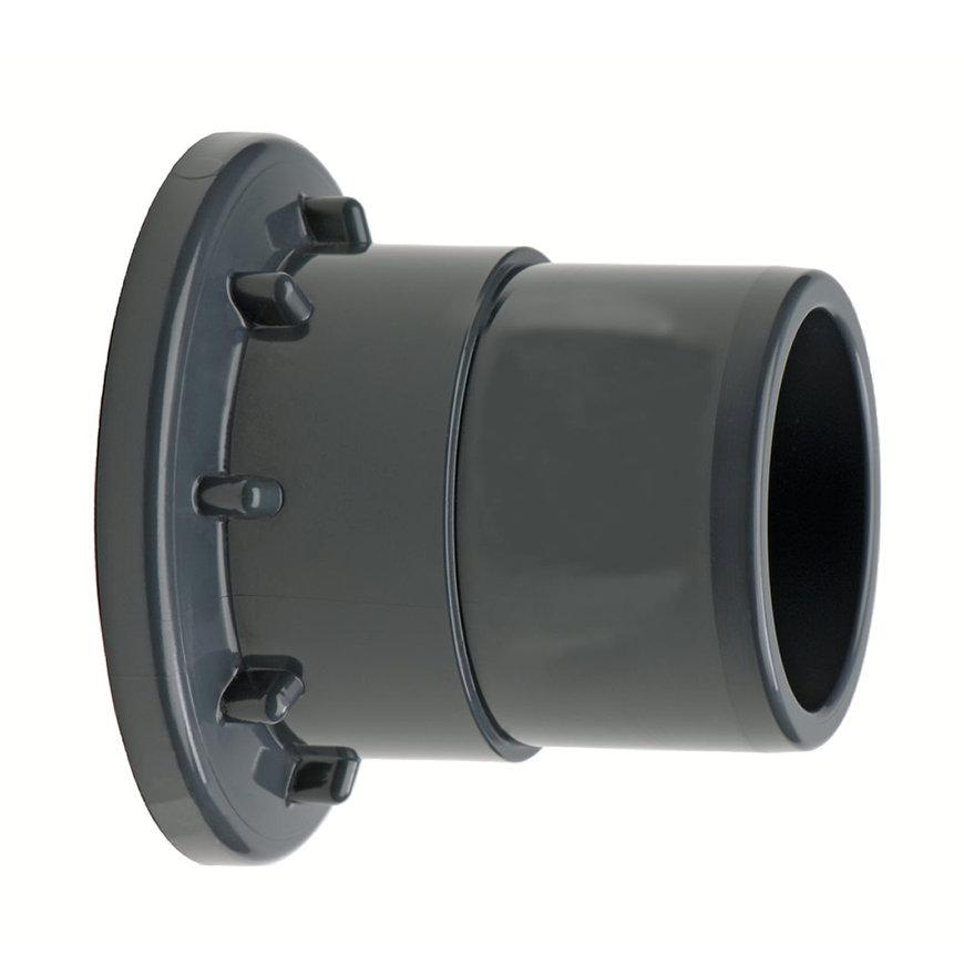 VDL inlegstuk t.b.v. kogelafsluiter en terugslagklep, uitwendig lijm, 50 mm