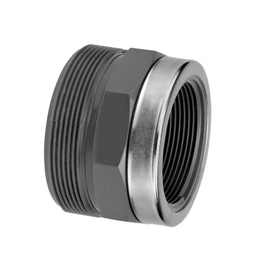 """VDL draadeind voor 3-delige koppeling, binnendraad, 1"""", type B  default 870x870"""