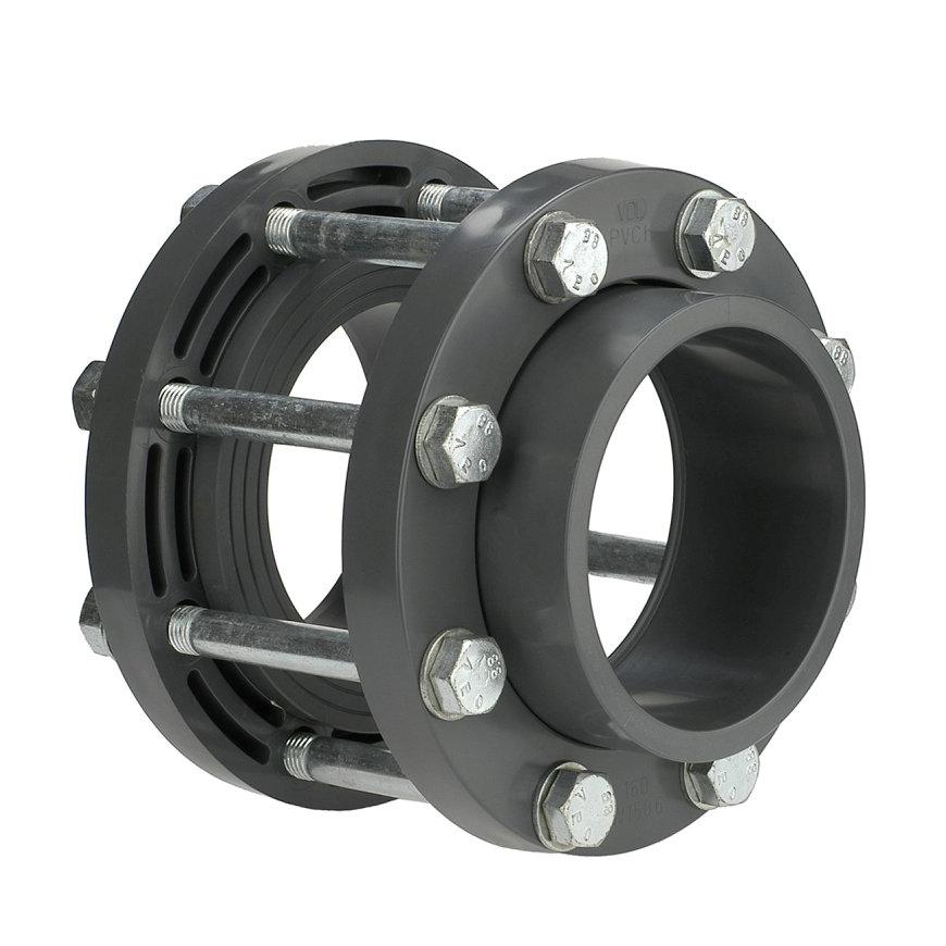 VDL Flanschset für Absperrklappe, mit Schrauben, 140 mm, DN125