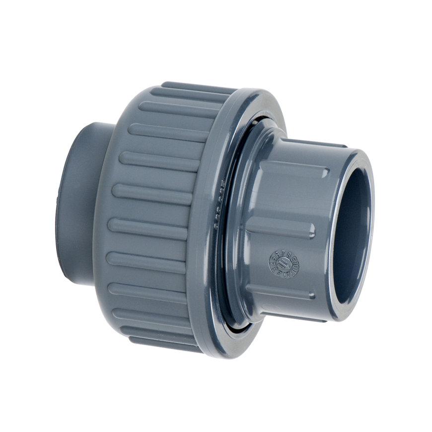 VDL pvc 3-delige koppeling, 2x inwendig lijm, 16 bar, 20 mm, type B