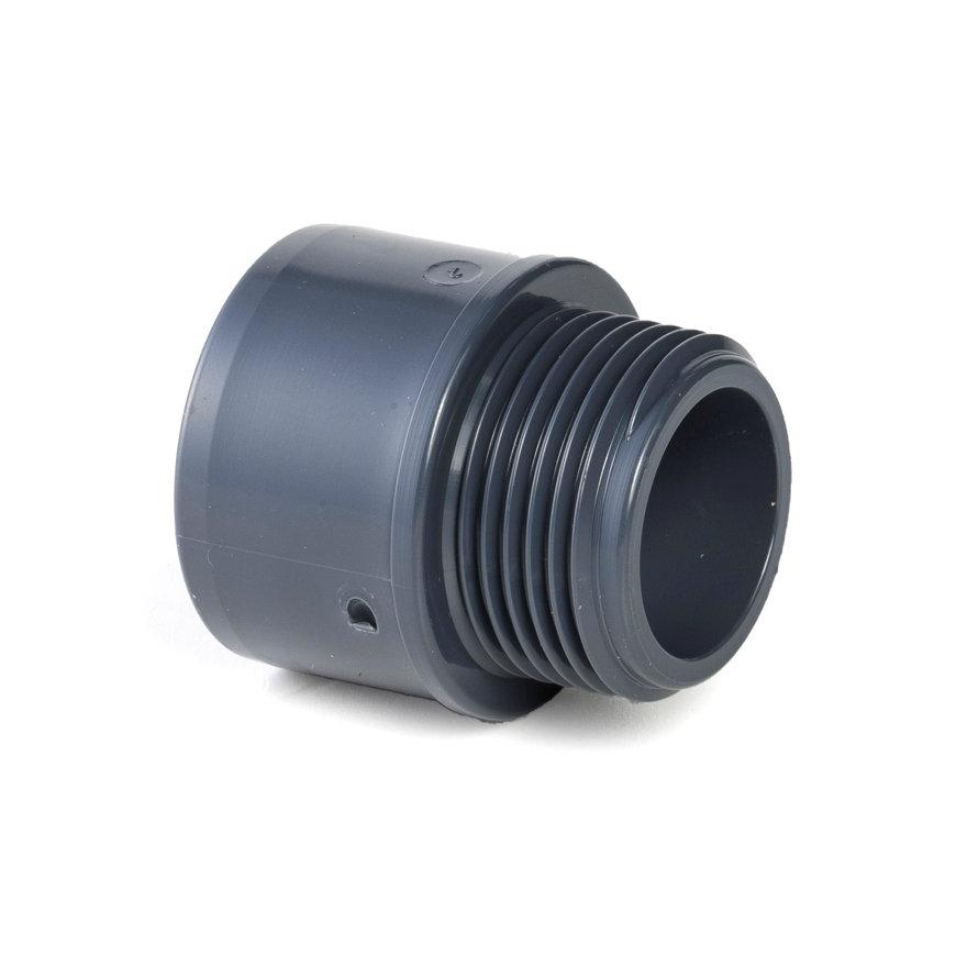 """VDL pvc draadeind, inwendig lijm x buitendraad, 10 bar, 63 mm x 2""""  default 870x870"""