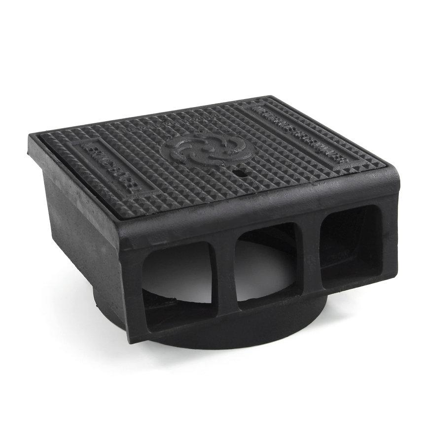 Gietijzeren trottoirkolk, exclusief onderbak, 2-delig, waaiermotief, BS 422 LD-WADI/OB 315,400x350mm