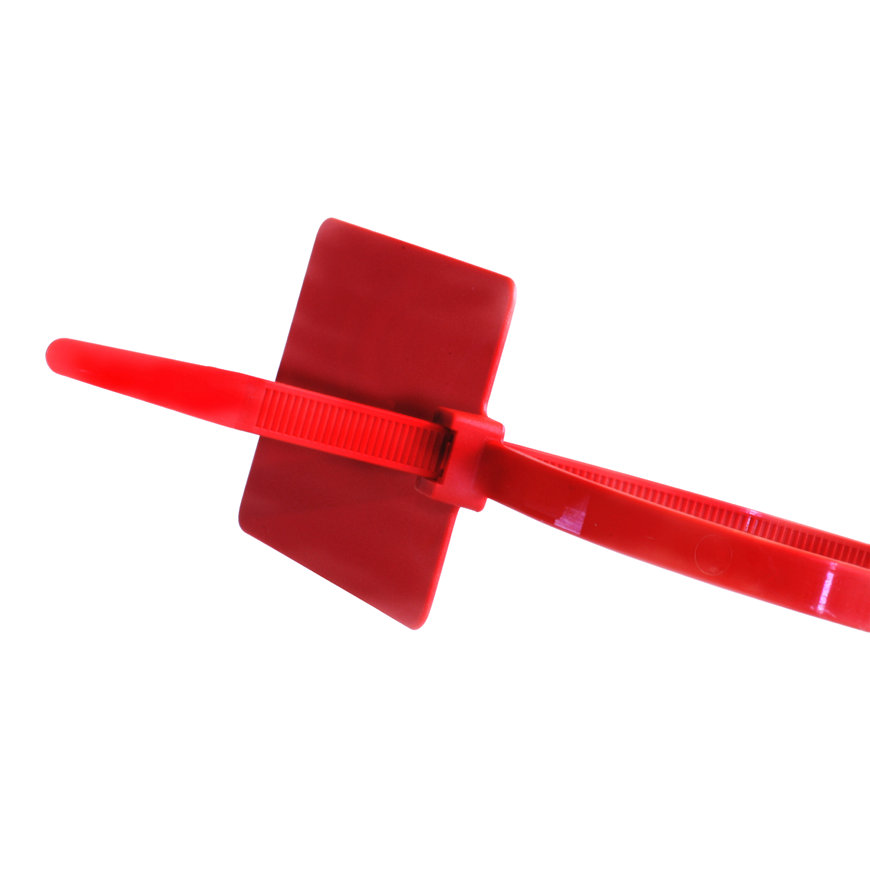 SapiSelco kabelbinders met markerlabel 83 x 51 mm rood l = 290 mm b = 4,8 mm zak à 50 stuks