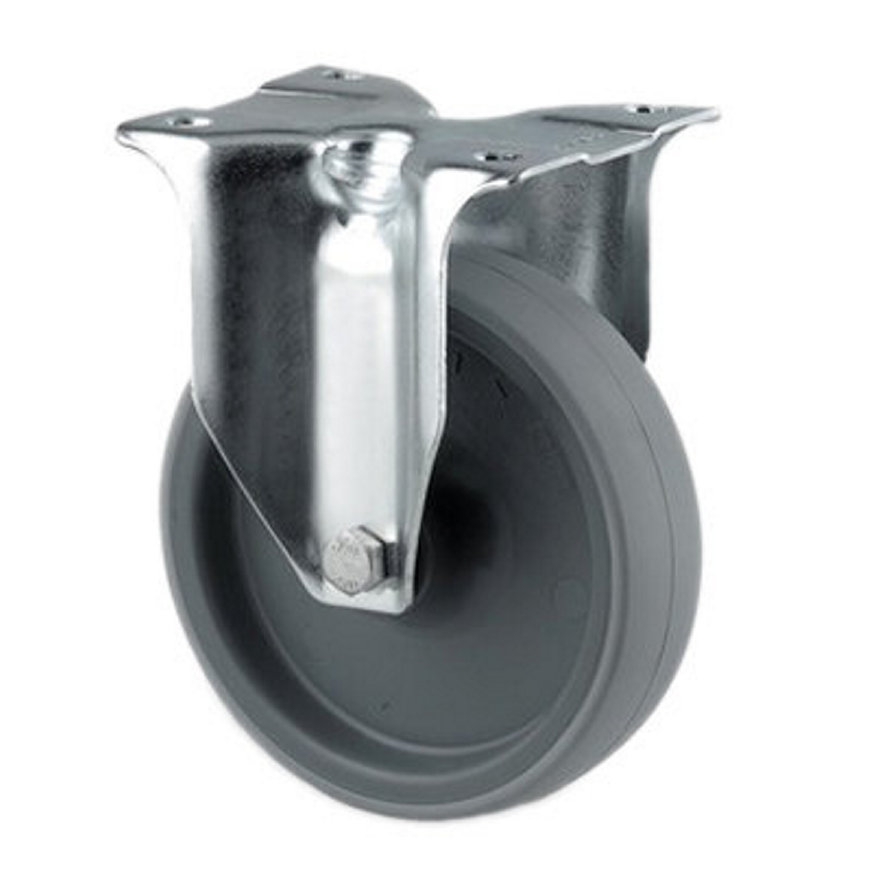 TENTE bokwiel, polyurethaan, plaatbevestiging, 80 mm, grijs