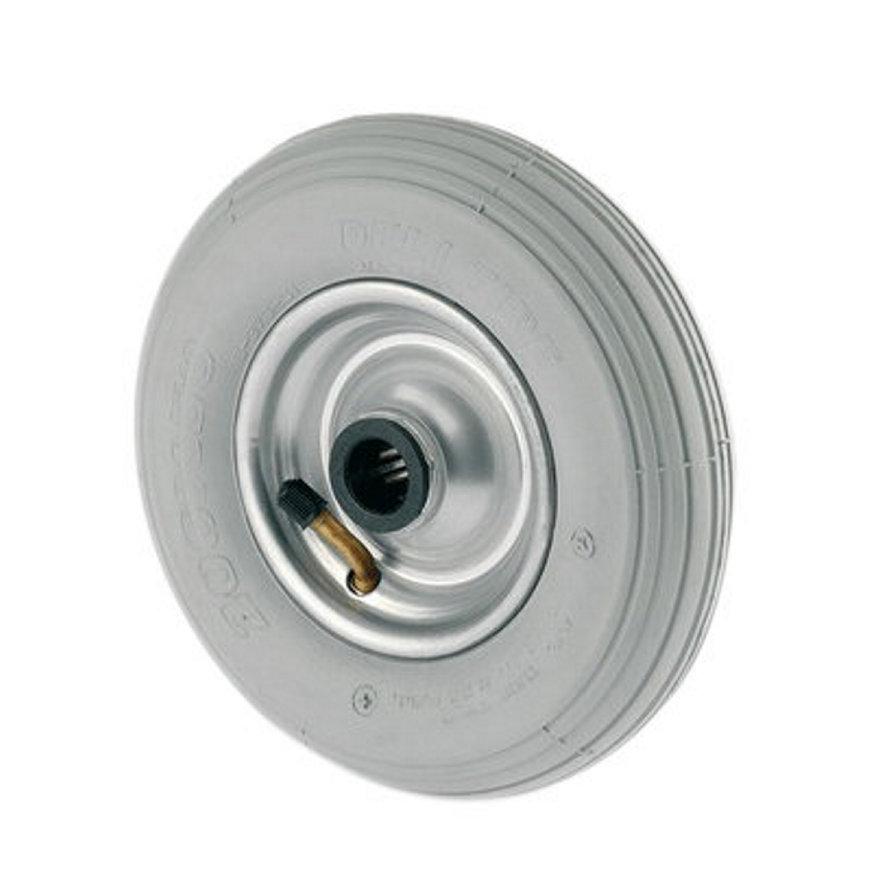 TENTE foamband met lijnprofiel, wielkern: geperst staalplaat, 200 mm, grijs  default 870x870