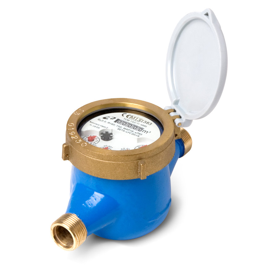 "Watermeter, type BETA-MJ-LFC, ¾"" L190, incl. koppelingen  default 870x870"