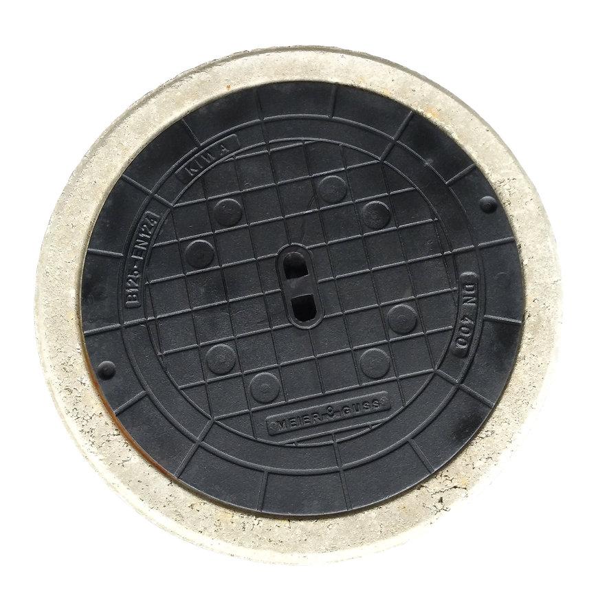 HeitkerBloc dichte putafdekking betonrand tbv filterput 400 klasse B, inclusief gietijzerendeksel  default 870x870