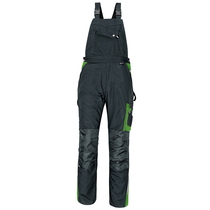 Cerva Allyn bretelbroek, zwart/groen, maat 46  default 870x870