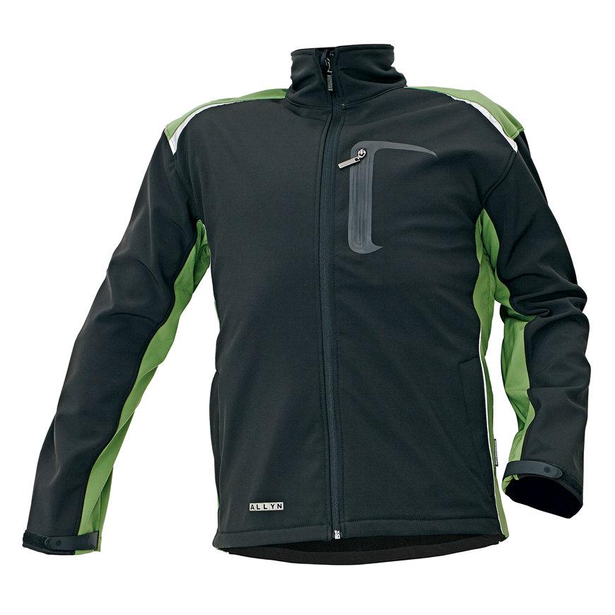 Cerva Allyn softshell jas, zwart/groen, maat S  default 870x870