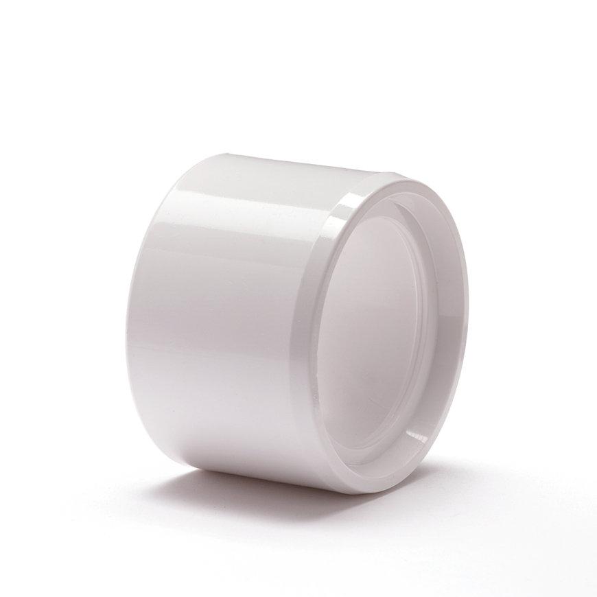 Nicoll pvc verloopring, centrisch, uitwendig x inwendig, wit, RAL 9010, KOMO, 50 x 40 mm