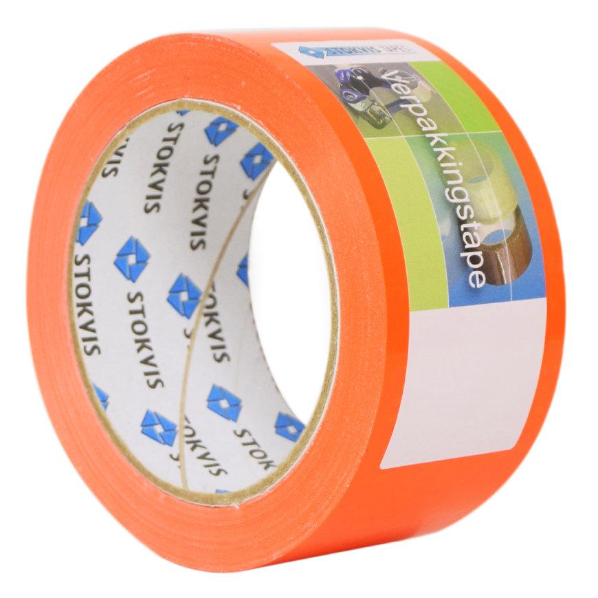 Stokvis pvc markeringstape, type 010100 FO, b = 50 mm, l = 66 m, fluoriserend oranje, per rol  default 870x870