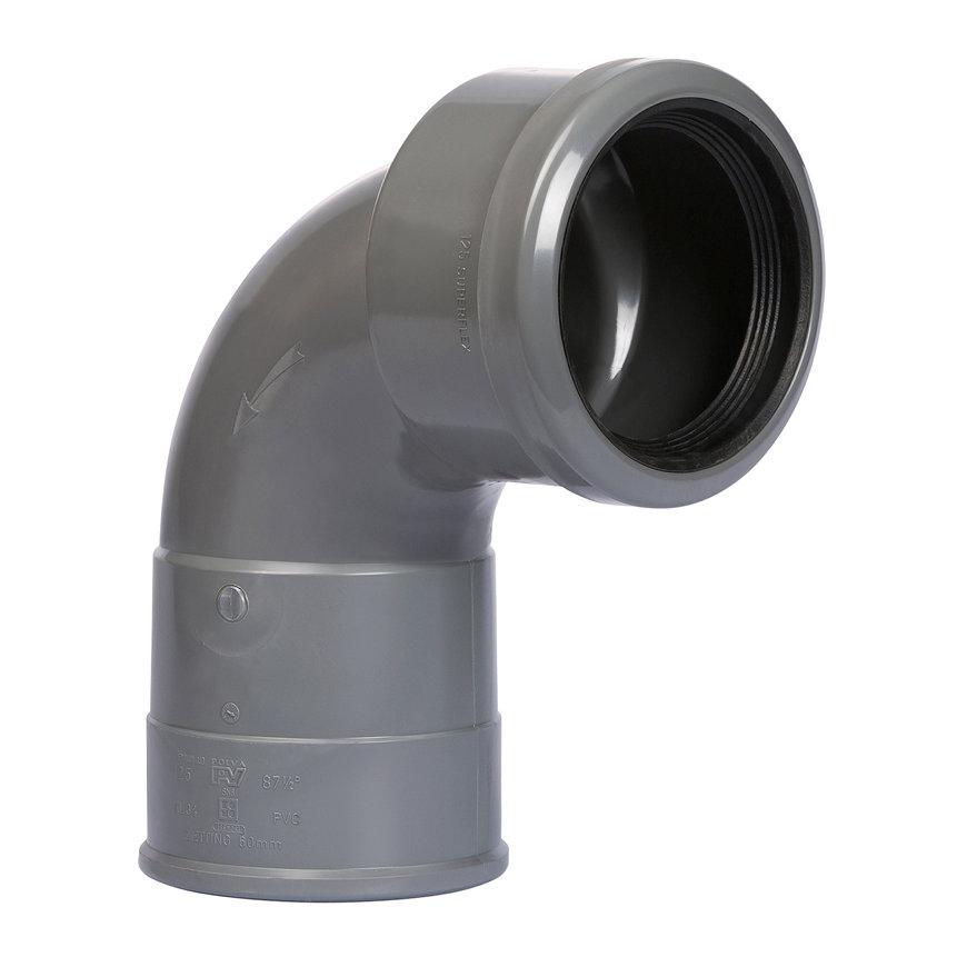 Pvc bocht 88°, met integrale zettingsmof, 6 cm, 12° flex, KOMO, SN8, 125 mm  default 870x870