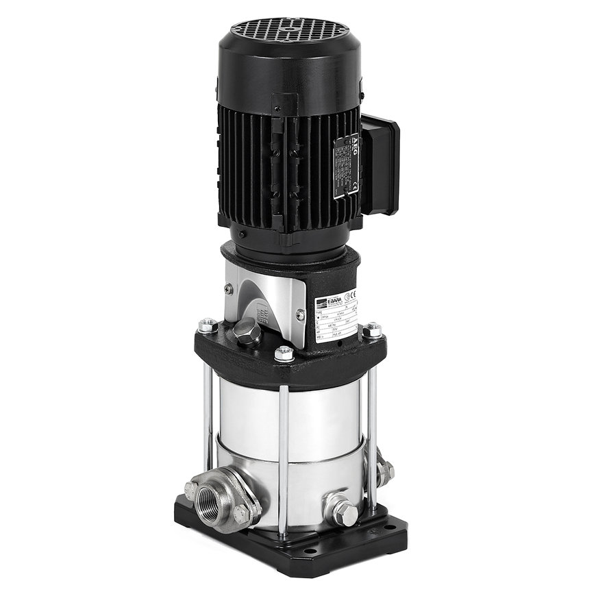 Ebara verticale meertraps centrifugaalpomp, type EVMS 1-9 N5, ovaalflens (N), 0,55kW, 3x230/400 V